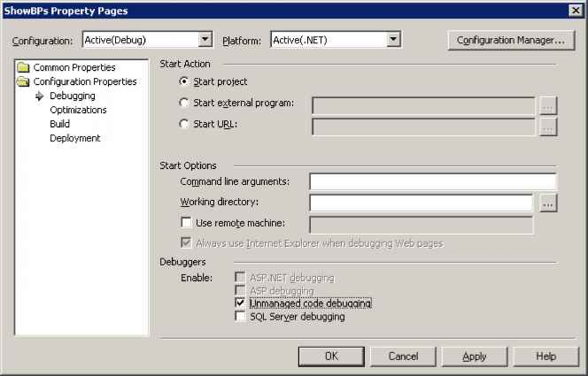 Mixed Mode Debugging - Debugging Applications - Visual Basic