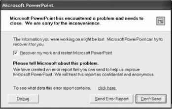 Powerpoint Send Report