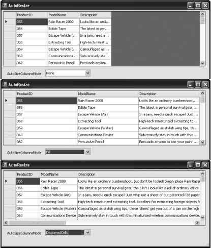 Column and Row Resizing - Visual Studio - Visual Basic Planet